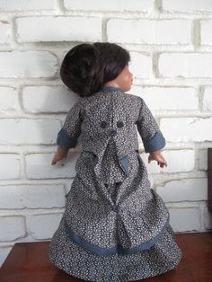 DO THE Bustle! Two Piece Historical Victorian 1870 Bustle Skirt and Fitted Cinched Jacket for American Girl and Other 18 Inch Dolls Bustle Skirt, Gotz Dolls, Our Generation Dolls, Victorian Women, 18 Inch Doll, Red Plaid, Two Pieces, Striped Dress, American Girl
