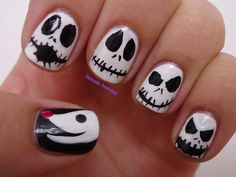 """Nightmare Before Christmas"" Nails by Seriously Swatched"