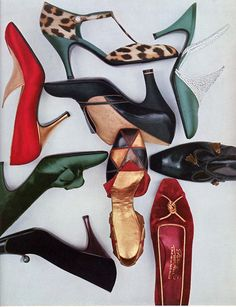 Shoes Heaven - Vogue 1956  maybe a little more visual order?