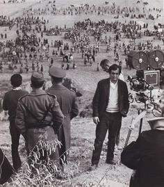 Stanley Kubrick Filming Paths of Glory