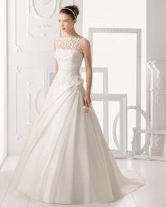 Decote canoa para o seu vestido de noiva!