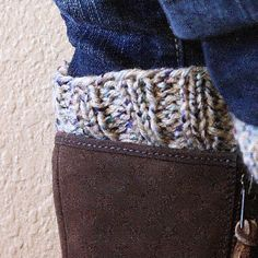 These knit boot cuffs are reversible--two looks in one easy project. Great for beginners!