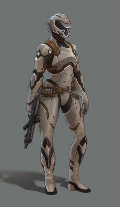 ArtStation - Composite armour with leather accents, Fletcher Kinnear Sci Fi Rpg, Sci Fi Armor, Robot Concept Art, Armor Concept, Character Concept, Character Art, Combat Armor, Futuristic Armour, Female Armor