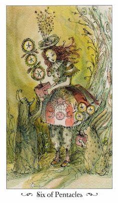Thông tin Lá Six of Pentacles - Paulina Tarot bài tarot Xem thêm tại http://tarot.vn/la-six-of-pentacles-paulina-tarot/