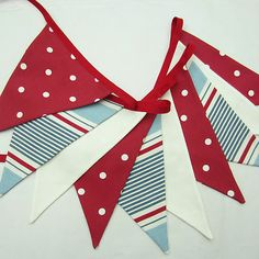 Nautical-Style Bunting. This nautical style bunting has 10 double-sided flags…