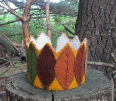 Waldorf Autumn Leaf Crown, Handmade With Wool Felt. $45.00, via Etsy.