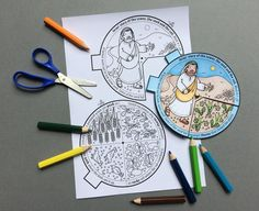 The Parable of the Sower and the Soils colour in story wheel + colouring page and word search, based on the Bible story from Mark Bible Activities For Kids, Bible Stories For Kids, Bible Crafts For Kids, Preschool Crafts, Toddler Sunday School, Sunday School Crafts For Kids, Jesus Crafts, Bible Story Crafts, Parable Of The Sower For Kids