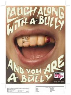 ANTI-BULLYING, Sugar Magazine/nspcc, Hooper Galton, NSPCC, Print, Outdoor, Ads