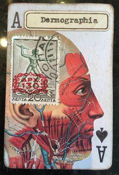 Original altered playing card Lara Irwin