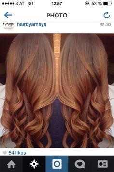 trendy hair color auburn caramel love her Hair Color Auburn, Hair Color Highlights, Auburn Hair, Ombre Hair Color, Hair Color Balayage, Cool Hair Color, Brown Hair Colors, Brown Highlights, Caramel Highlights
