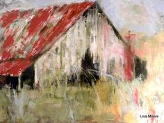 """""""Tin Roof"""" painting by Lisa Moore"""