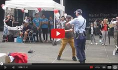 Amazing Policewoman Joins Street Dancing