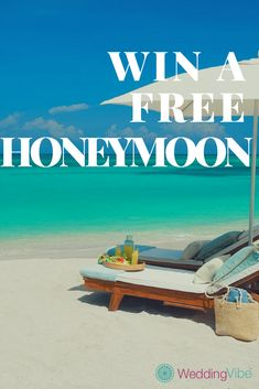 Sign up for WeddingVibe.com and automatically get entered to win a free honeymoon. New sweepstakes added weekly!