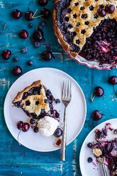 Vanilla Bourbon Cherry-Blueberry Pie // halfbakedharvest.com
