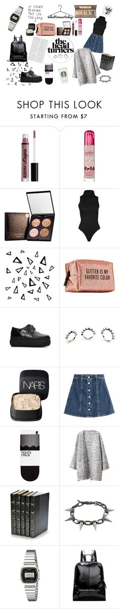 """""""the head turners"""" by lraivn on Polyvore featuring NYX, Bourjois, Nika, Pinch Provisions, Eddie Borgo, NARS Cosmetics, AG Adriano Goldschmied, H&M, Chicnova Fashion and Decorative Leather Books"""