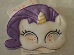 Rarity Pony Equestrian Girl inspired felt mask for dress up or Halloween Costume Pretend Play Imagination Education party favor