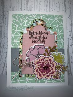 Handmade card by Marlena M using the Bloom Brighter and Great Friend stamp sets from Verve. #vervestamps