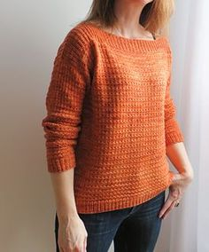 Laurie sweater by Josee Paquin. Nice overall pattern might be nice for the variegated yarn.