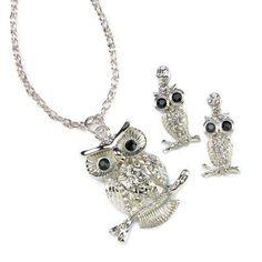 cute yet elegant Owl Jewelry Set