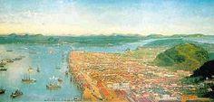 Benedito Calixto - Vista da Cidade de Santos, 1898.