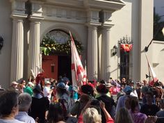 The procession of the royal family to the Cathedral in downtown St. Augustine.