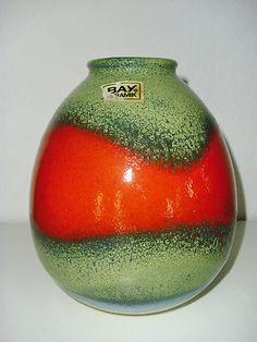 West German Pottery Keramik Vase Bay ceramic Fat Lava