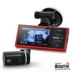 720p Front Car DVR + 720p Parking Camera System - 2.7 Inch Monitor, G-Sensor, 4x LEDs, Night Vision, Motion Detection #carDVR #Carparkingcamera
