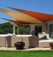 Terrasse couverte d'un velum - Marie Claire Maison