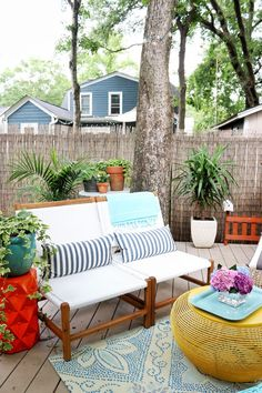 Colorful outdoor space
