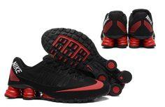 Nike Shox Turbo 21 KPU Men Shoes Sneakers Total Black Red