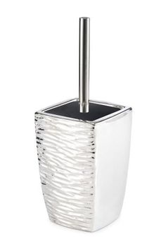Bathroom Accessories Next george home cracked silver glass bin | bathroom accessories