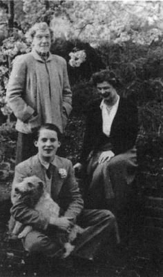 Jeremy Brett with his mother Elizabeth Butler Huggins and his grandmother Edith Cadbury Butler