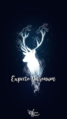 15 Harry Potter inspired wallpapers to fill . - Mobile wallpaper with the illuminated silhouette of in deer, expecto patronum, Harry Potter