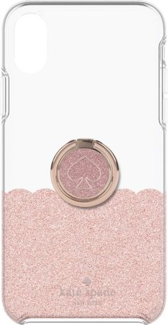 31e0218f665 kate spade new york - Hardshell Case + Ring for Apple® iPhone® XS Max -  Rose Gold Glitter Clear
