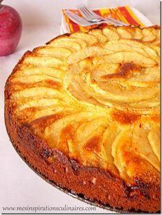Moelleux aux pommes et à la frangipane | Le Blog cuisine de Samar                                                                                                                                                                                 Plus