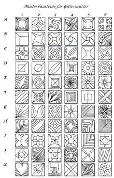 Zentangle: Eine interessante Musterwahllösung für Gittermuster