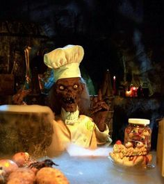 Crypt Keeper cheffing it up on Halloween