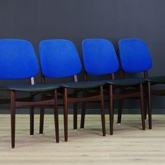 Komplet 4 szt. krzeseł z lat 60./70.