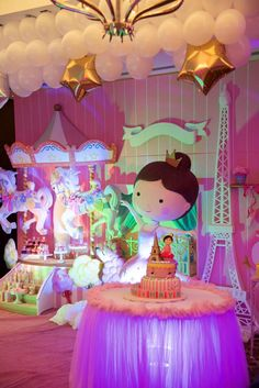 Beautiful ballerina in Paris birthday party! See more party ideas at CatchMyParty.com!