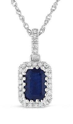 Suzanne Kalan Emerald-Cut Blue Topaz Pendant Necklace bAlGU