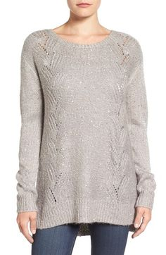 071afce4c5710 NYDJ Sequin Knit Tunic (Regular  amp  Petite) available at  Nordstrom  Hooded Cardigan