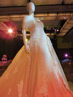 Royal wedding dress with cherry blossom shade  By Sohad Acouri White 2013