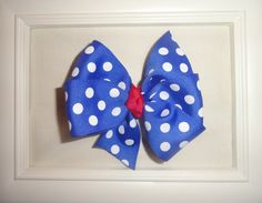 Patriotic Blue Polka Dot Boutique Children's Bow by KitKatMiss, $5.00