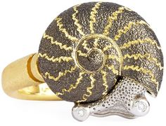 Alex Soldier 18k Snail Ring with Diamonds on shopstyle.com