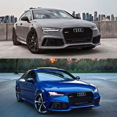 Pick your seven. Nardo or Sepang.  Cars: 2016 @Audi RS7 Sportback (560hp, V8 4.0 TwinTurbo) Color: Nardo grey / Sepang blue metallic Performance: 0-100kmh 3.58sec (measured), 3.9 sec (official) Location: Warsaw, Poland / Doha, Qatar Facebook: facebook.com/auditography Camera: Canon Eos 5D Mark II / 24-70mm Thanks to: Audi Poland (@audipl), Audi Qatar (@audiqatar)  Remember, ALL my photos are available on my popular Facebook page, where you can download them in their high quality…