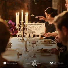 Lights, camera, action! We haven't long to go until Series 5 airs in the UK and you are invited into the Downton Abbey dining room once again.