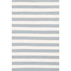 Dash and Albert Rugs Trimaran Stripe Light Blue & Ivory Indoor/Outdoor Area Rug