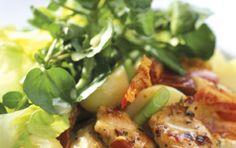 Κοτοσαλάτα με σάλτσα γιαουρτιού Greek Dishes, Cooking Recipes, Healthy Recipes, Salad Bar, Appetisers, Greek Recipes, Potato Salad, Salads, Food And Drink