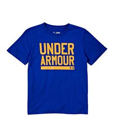 Look at this #zulilyfind! Royal UA Script Tee - Boys by Under Armour® #zulilyfinds For J
