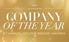 Jeunesse has been selected by the international Golden Bridge Awards as the Company of the Year in the Consumer Products sector, receiving the prestigious Gold award. Why wouldn't you want to join?  https://multibra.in/6wr5b https://multibra.in/6wr59